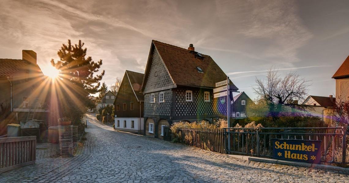 Das wohl schiefste Haus in Deutschland