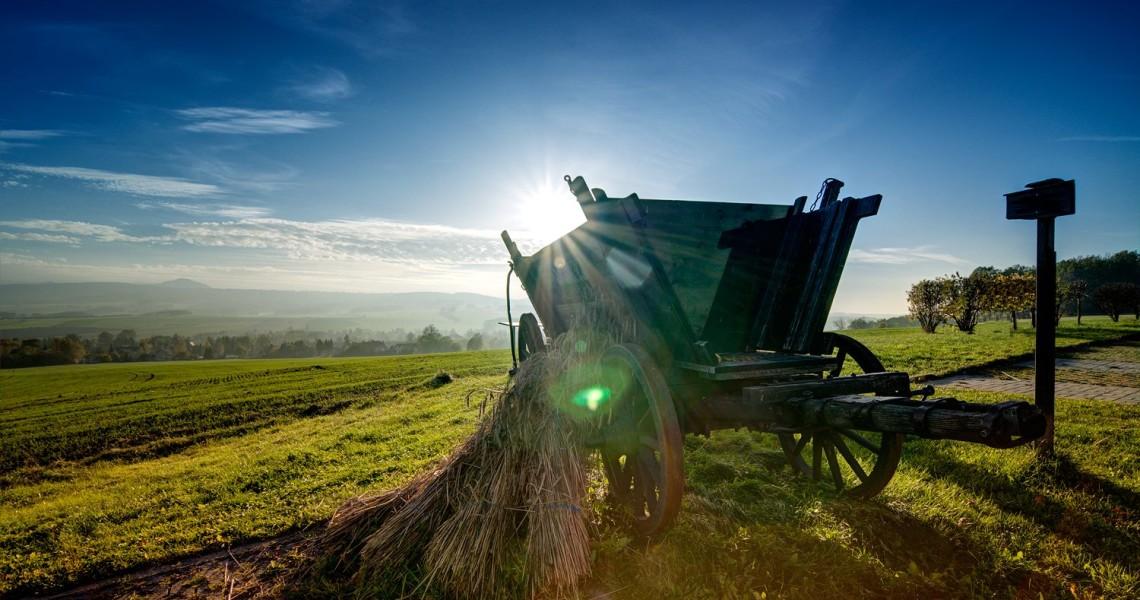 Ein herrlicher Blick von der Mühle ins Nachbarland Tschechien