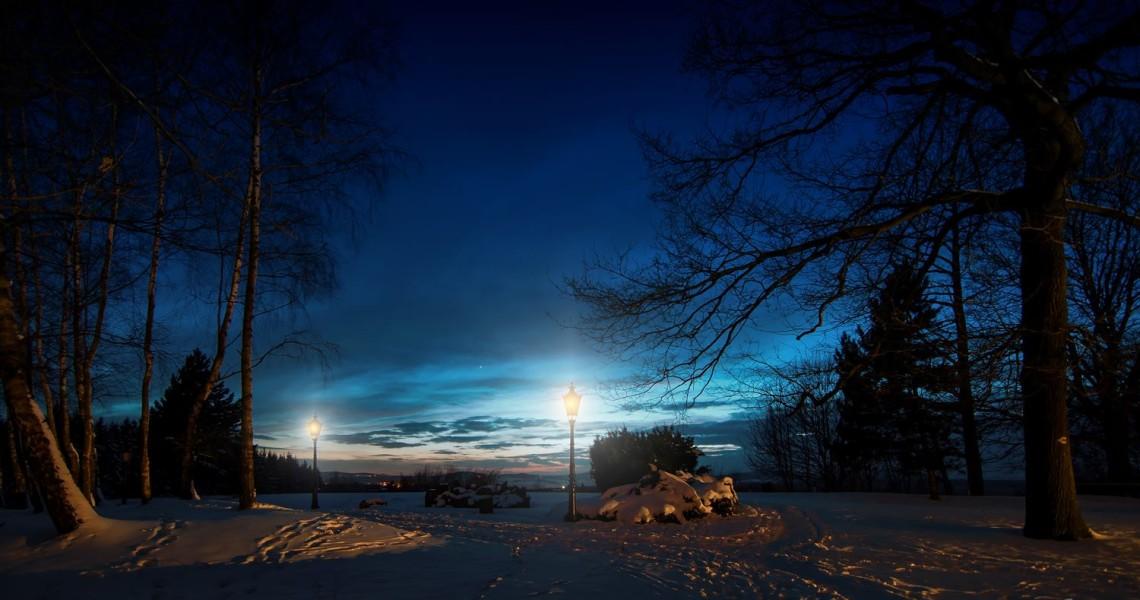 Eine kleine Nachtansicht auf dem Gelände rund um unseren Bismarckturm