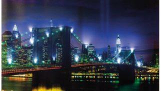 """LED Leinwand-Bild """"Brooklyn Bridge"""""""